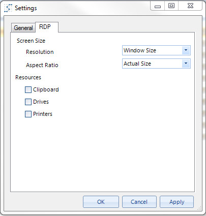 servoyant browser rdp settings